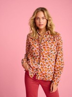 Pom Amsterdam Blouse Winks and Kisses Pink