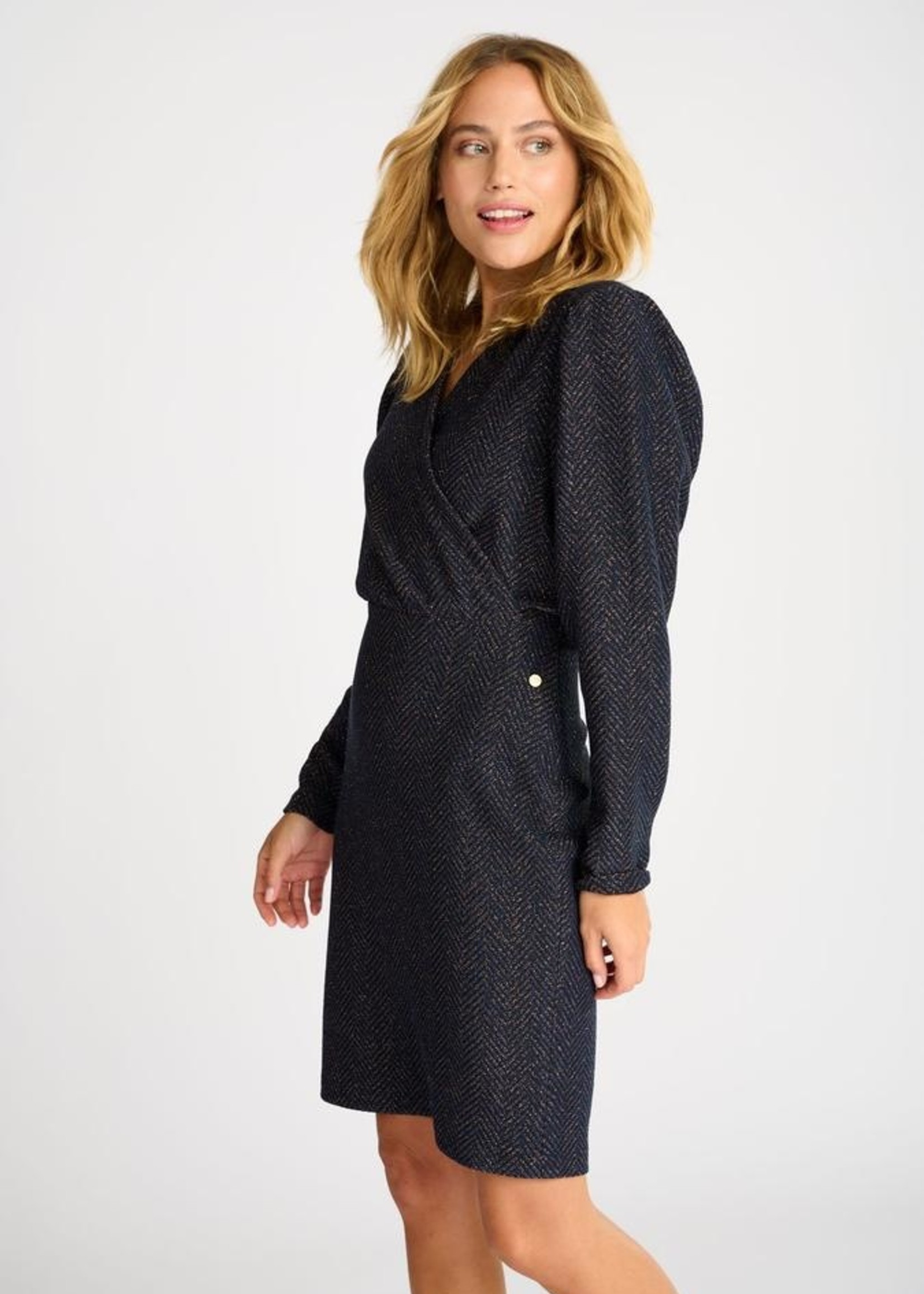 Pom Amsterdam Dress Blue Shimmer