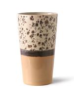 HK living 70s ceramics: latte mug, tropical
