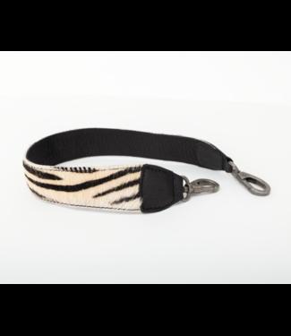 Bag2Bag Verwisselbare schouderband Zebra zwart 60cm - Copy