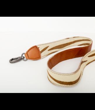 Bag2Bag Verwisselbare schouderband Zebra cognac 110 CM
