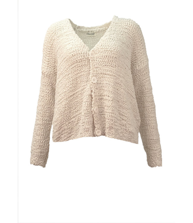 Transfer cropped cardigan off white