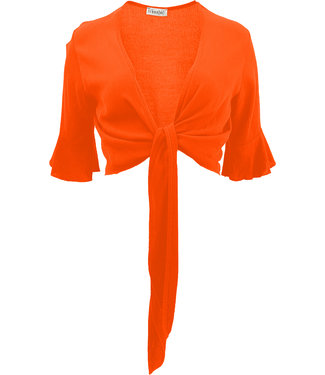 Transfer wrapp cardigan orange