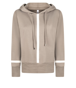 Zoso hooded sweater Didi  taupe / off white