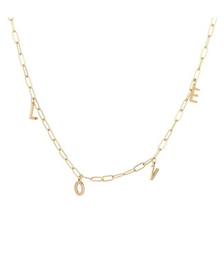 Gold Chunky Love Necklace