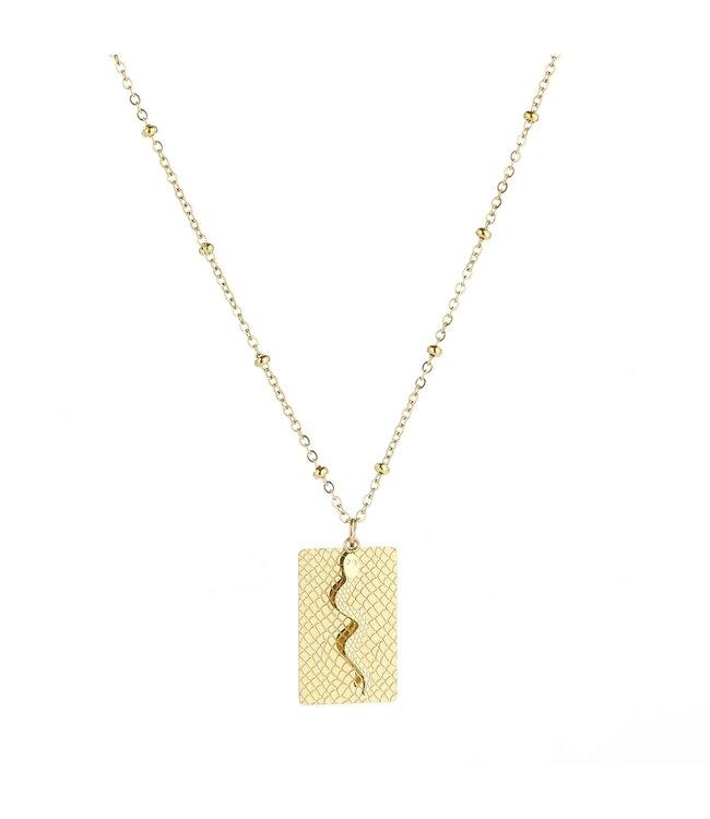 Gold Lof Snake Necklace