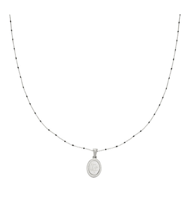 Silver Live Life Necklace
