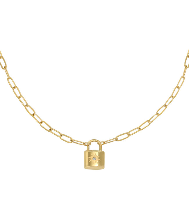 Gold Little Lock Necklace