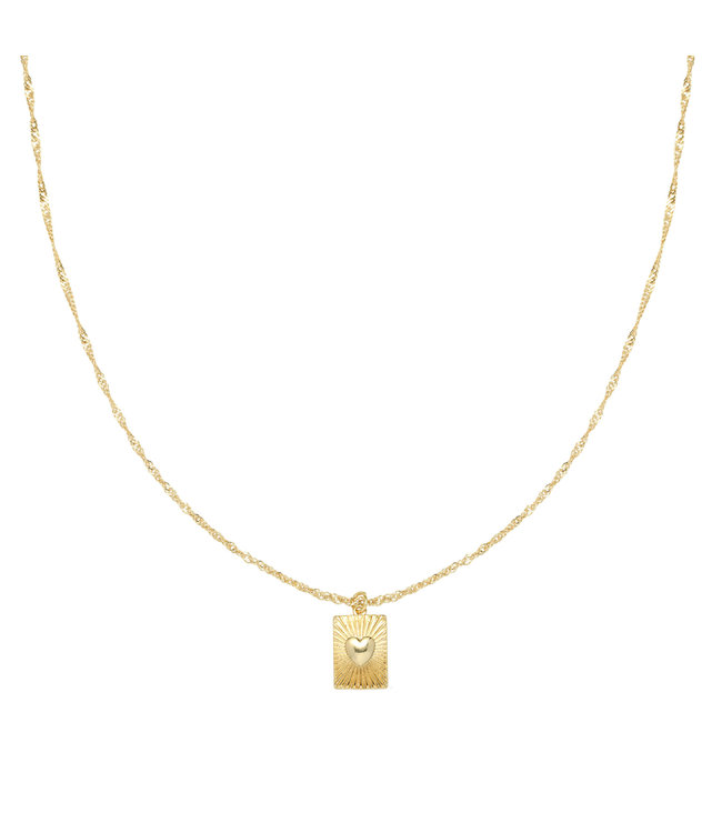 Gold Show me Love Necklace