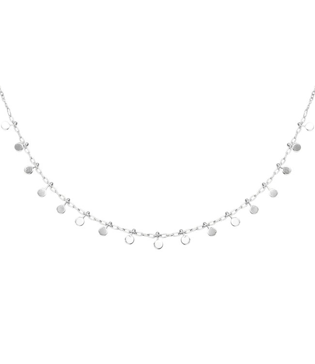 Silver Confetti Small Necklace