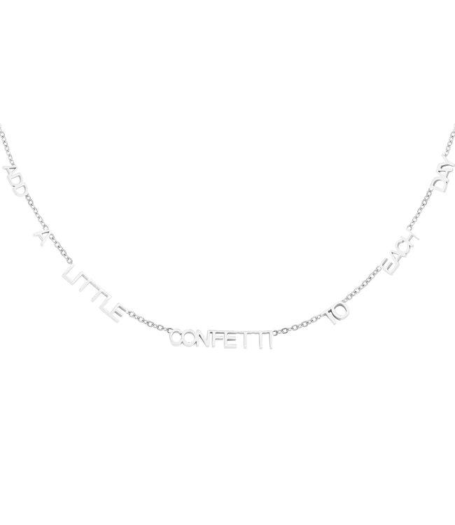 Silver Add Confetti Necklace