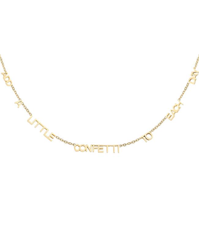 Gold Add Confetti Necklace