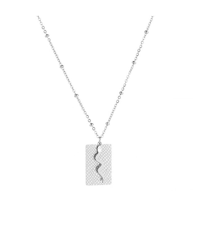 Silver Lof Snake Necklace