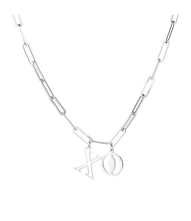 Silver XO Necklace
