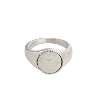 Silver Always Remember Signet Ring