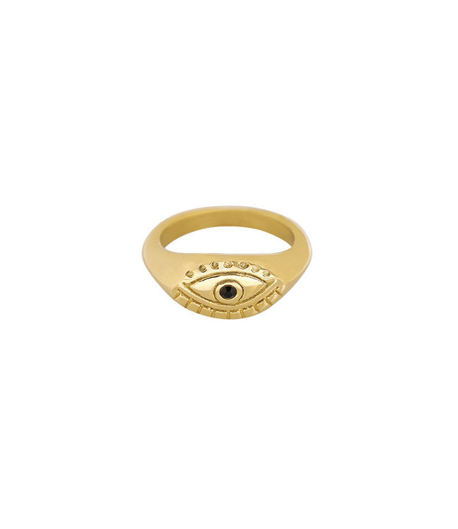 Gold Curious Eye Ring