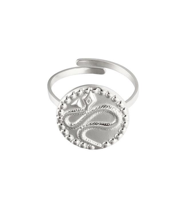 Silver Vintage Snake Ring