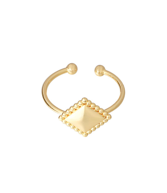 Gold Diamond Metal Ring