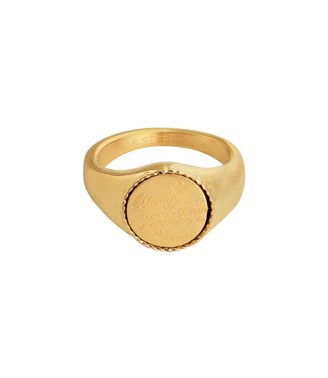 Gold Always Remember Signet Ring