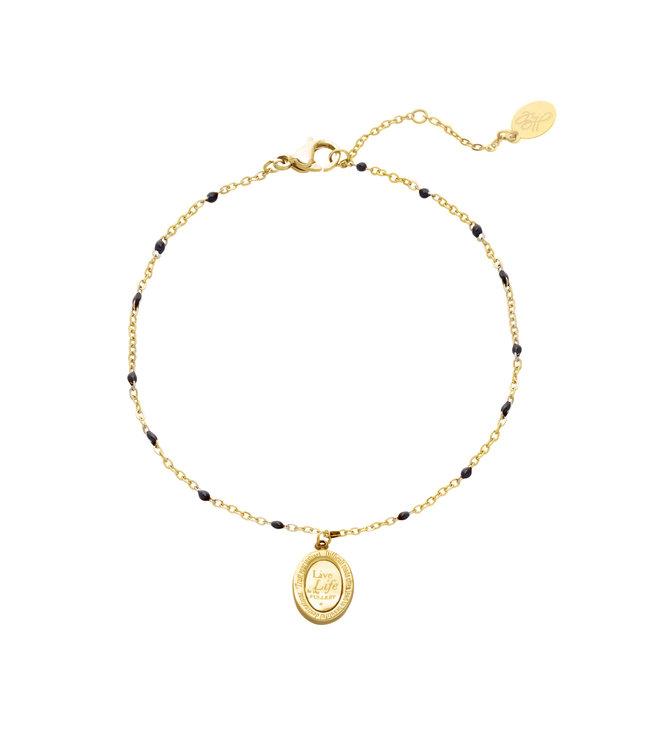 Gold Live Life Bracelet