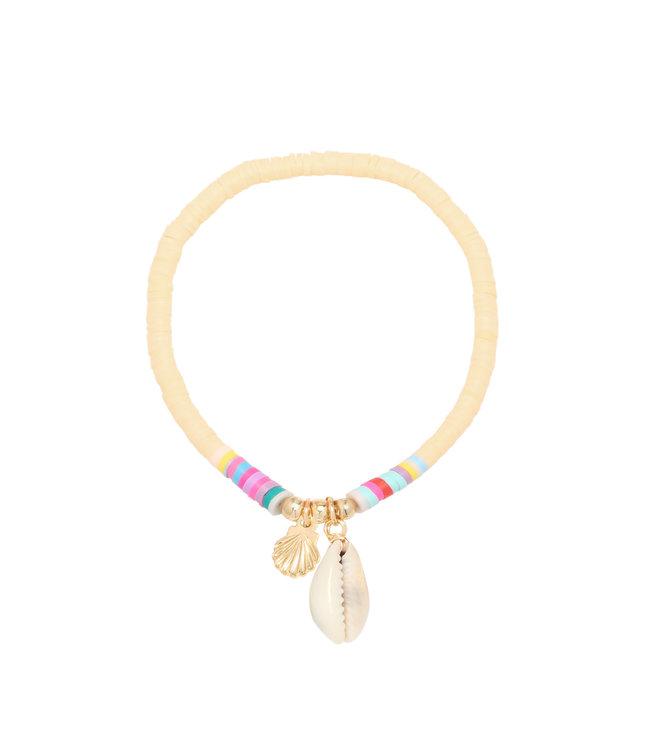 Malia Shell Bracelet / Beige