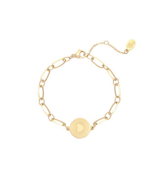 Gold In My Heart Bracelet
