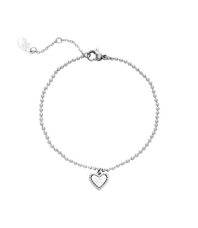 Silver Be Kind Bracelet