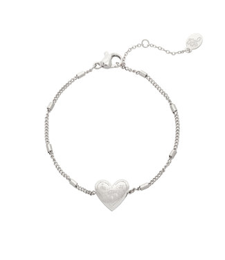 Silver Love to Travel Bracelet