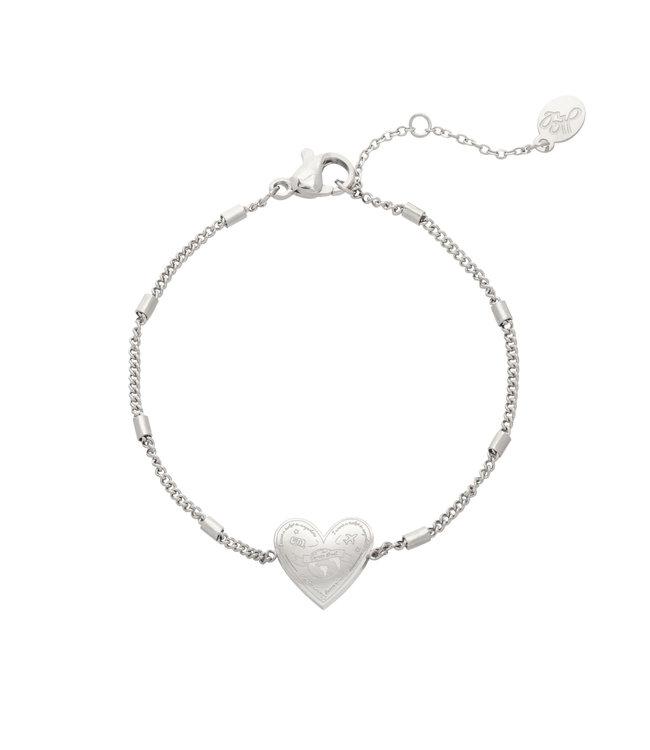Silver Love to Travel Bracelet