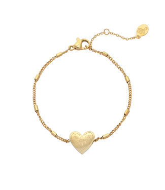 Gold Love to Travel Bracelet