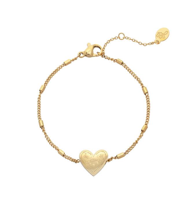 Gold Love to Travel Bracelet