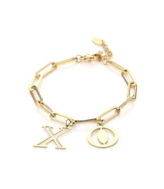 Gold XO Bracelet