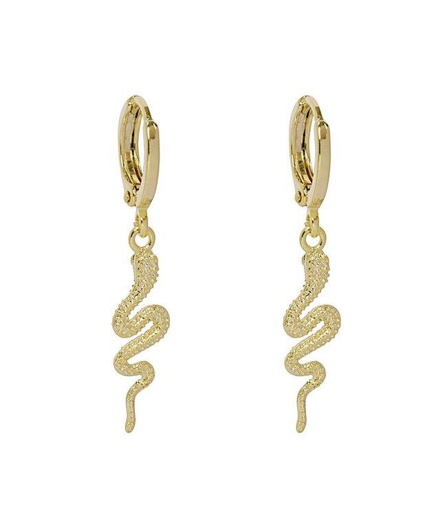 Gold Special Snake Earrings