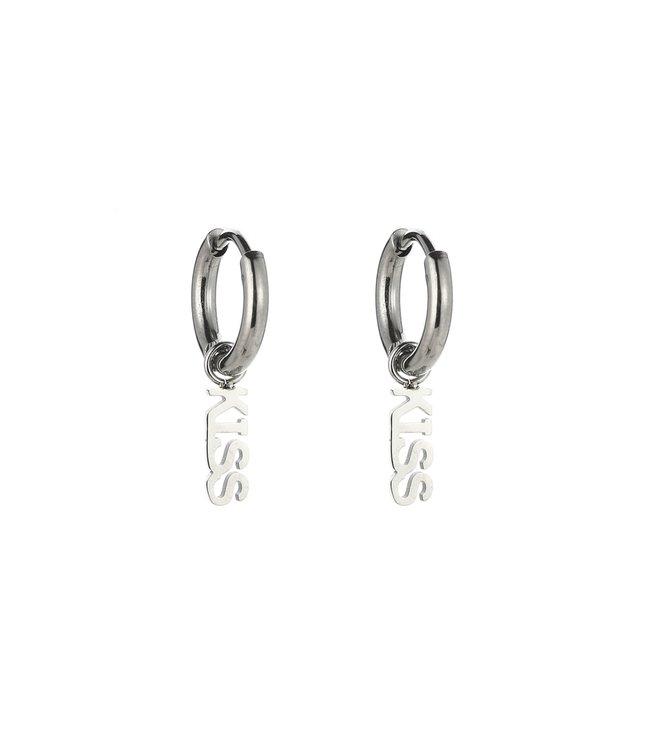 Silver Kiss Earrings