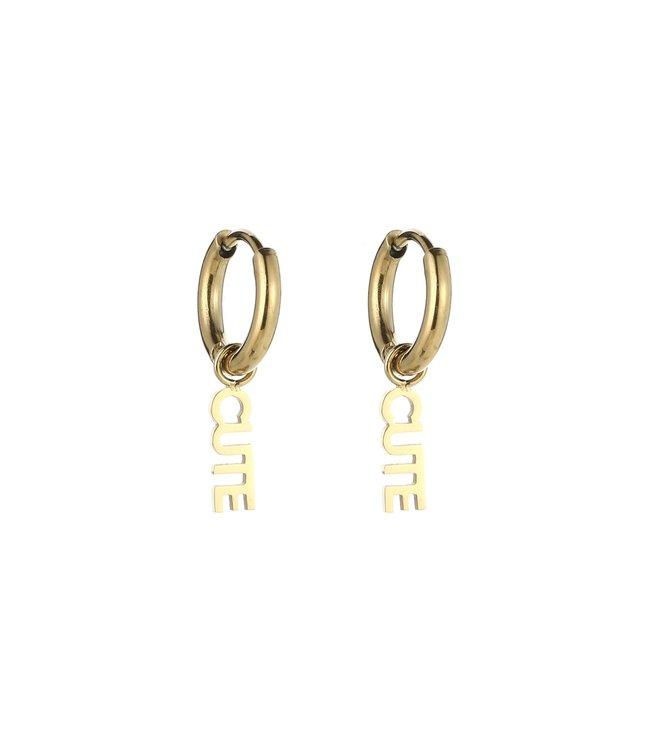Gold Cute Earrings