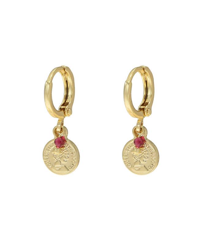 Gold Little Queen Earrings