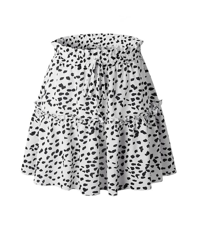 Faye Printed Dots Skirt