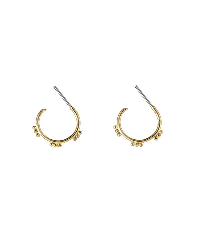 Gold Sweet Dots Earrings