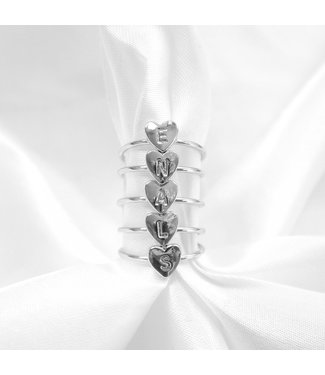 Initial Heart Ring