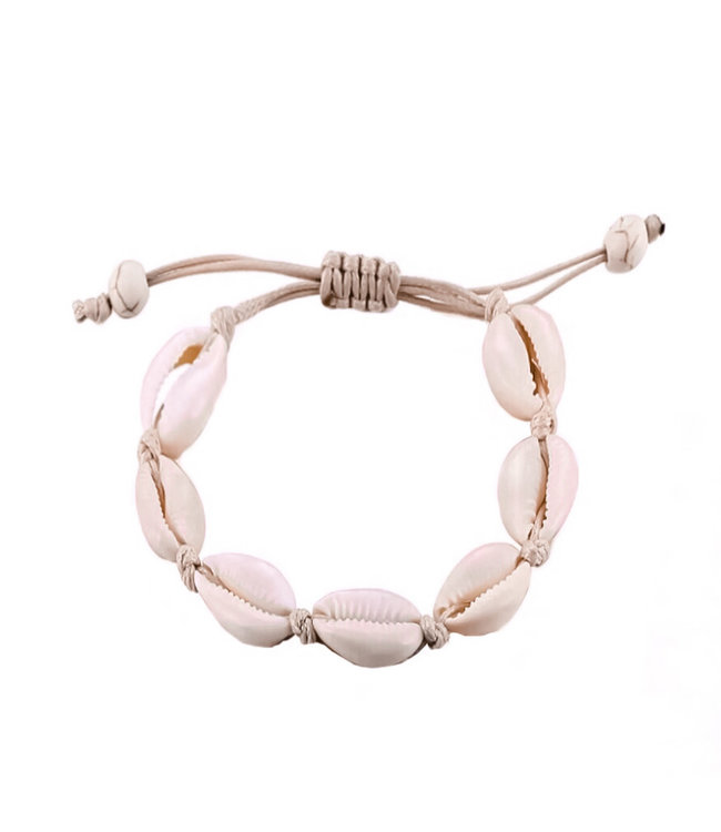 Renae Shell Bracelet / Beige