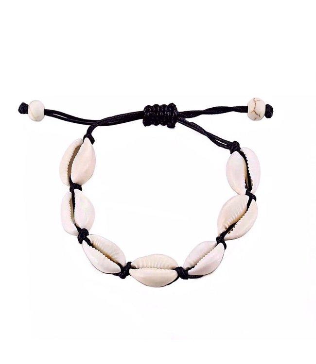 Renae Shell Bracelet / Black