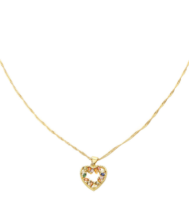 Zircon Heart Necklace