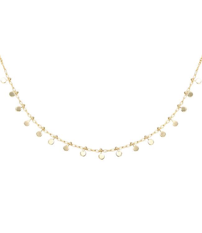 Gold Confetti Small Necklace