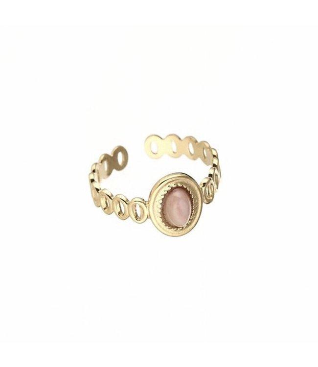 Sunshine Pink Stone Ring