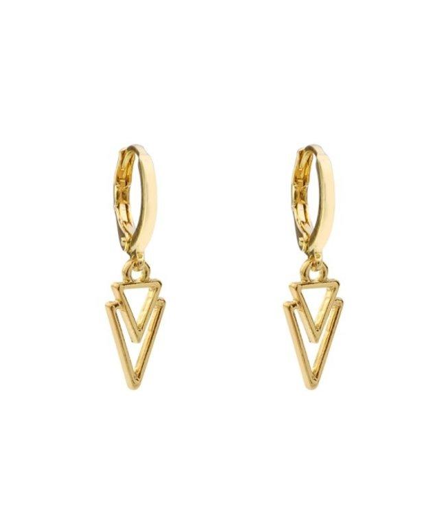 Gold Triangle It Earrings