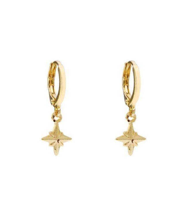 Gold Universe Star Earrings