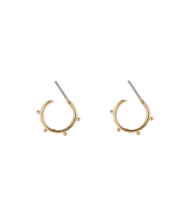 Gold Trendy Tiny Points Earrings