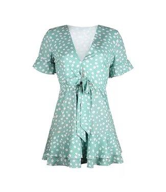 Cerise Dots Dress