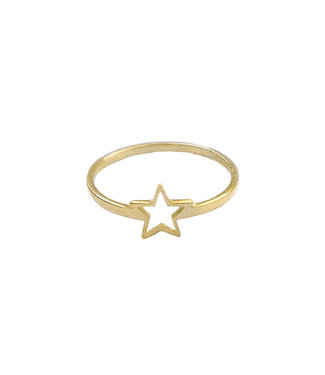 Gold Open Star Ring