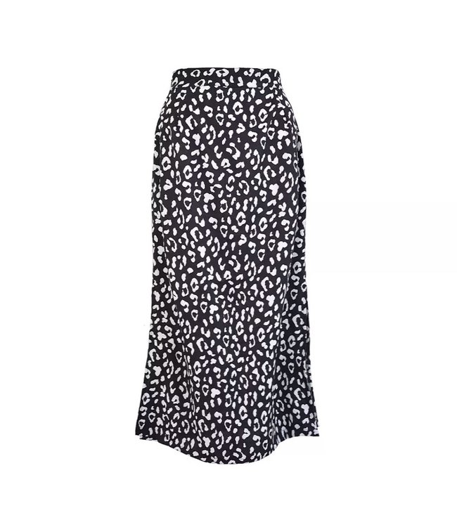 Naomi Cheetah Midi Skirt